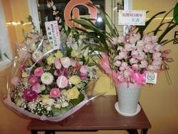お祝いのお花を頂きました!