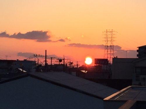 3月8日、日の出・・・